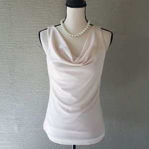 WHBM White House Black Market Cream Sleeveless Top